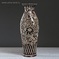 """Ваза напольная """"Эллада"""" резная, коричневая, глазурь, 65 см, микс, керамика"""
