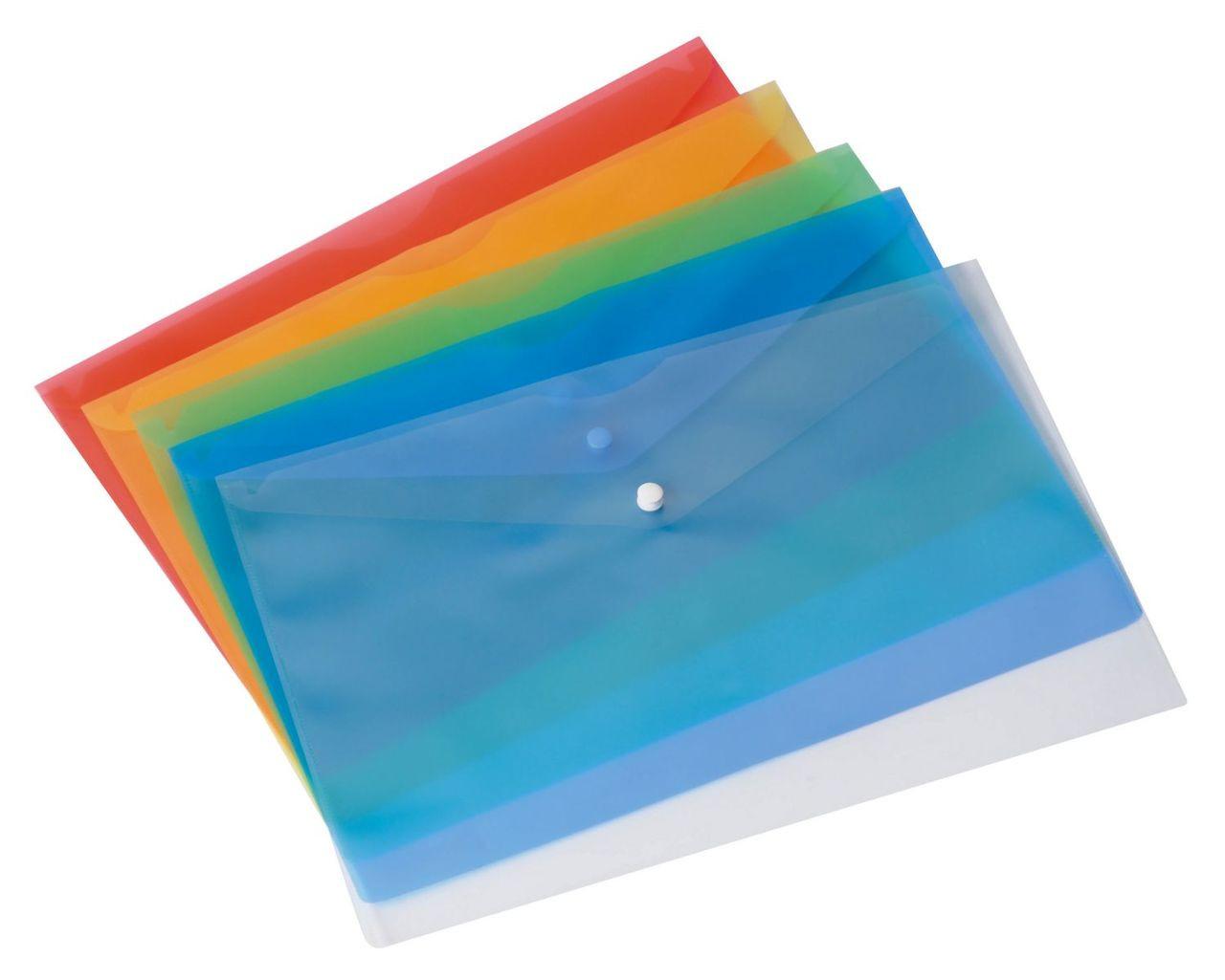 Папка пластиковая с кнопкой