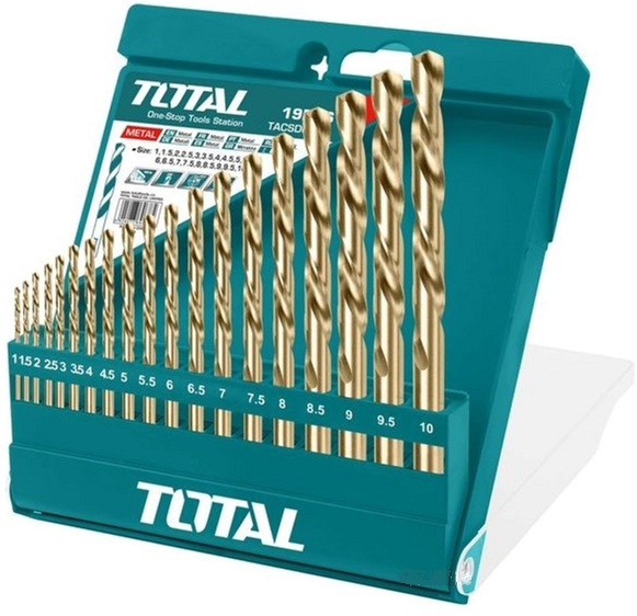 Набор свёрел по металлу 19шт, В-Класс Total (TACSD0195)