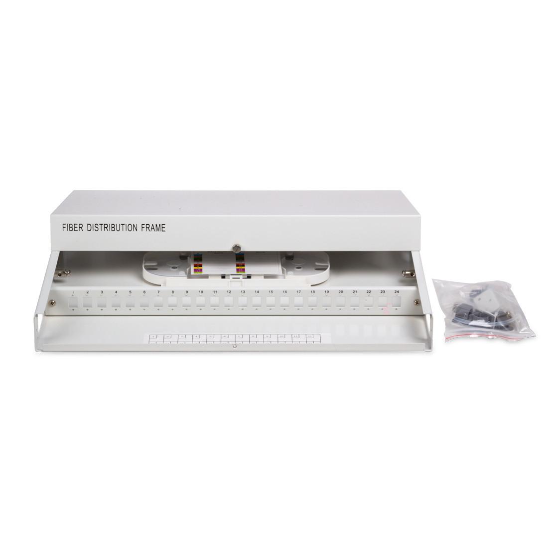 Кросс оптический 1U SC/UPC 12 PORT SM (в комплекте 12 адаптеров+12 пигтейлов+12 гильз)