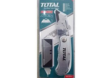 Нож с трапециевидным лезвием складной Total (THT513613)