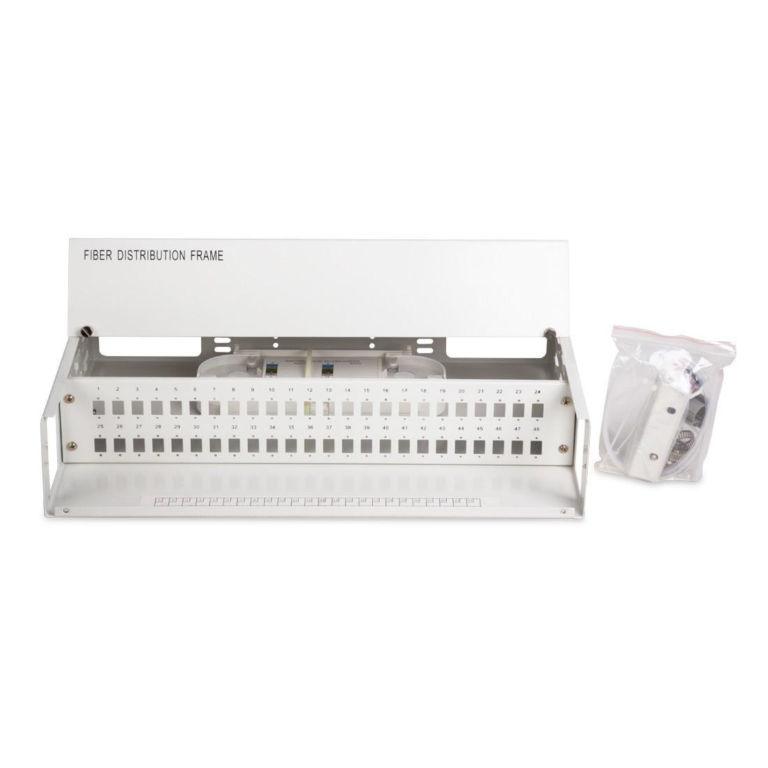 Кросс оптический 2U SC/APC 48 PORT SM (в комплекте 48 адаптеров+48 пигтейлов+48 гильз)