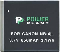 Аккумулятор PowerPlant Canon NB-4L (850 mAh)