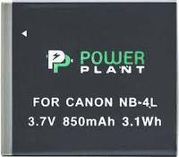Аккумулятор PowerPlant Canon NB-4L (850 mAh), фото 1