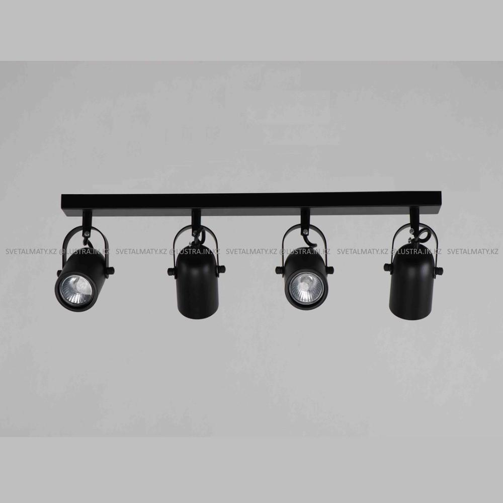 Универсальный потолочно-настенные спот на 4 лампочки черный