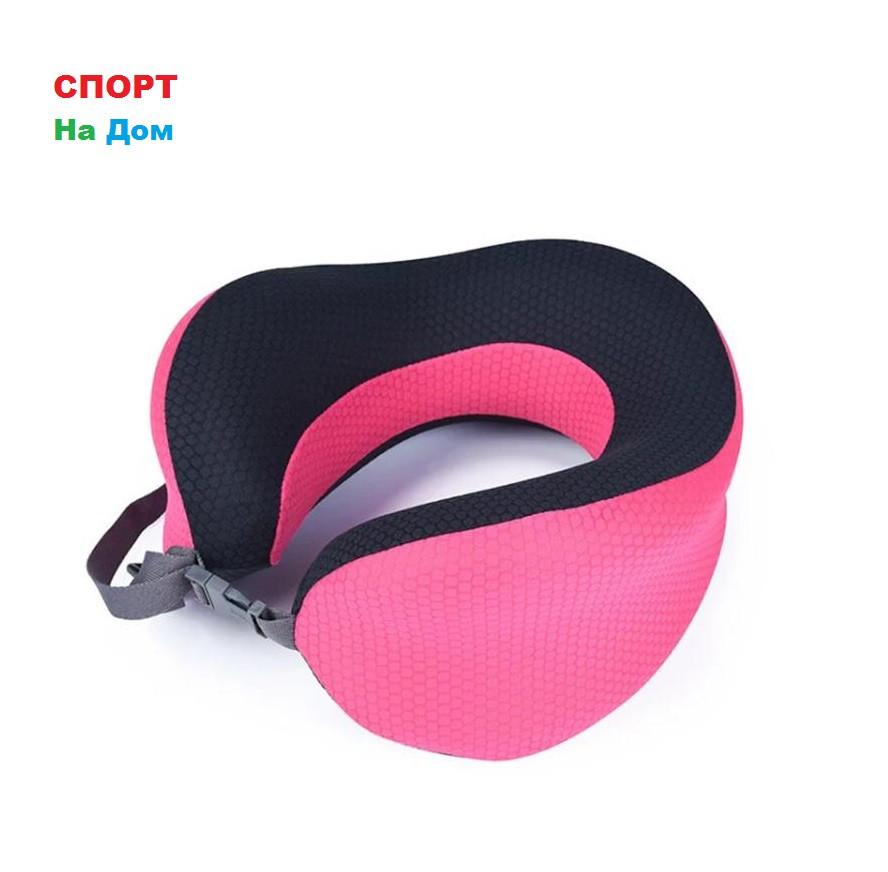 Ортопедическая подушка подголовник Афродита (цвет - розовый)