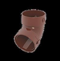 Колено трубы двухмуфтовое D85мм, 67°