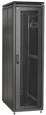 """ITK Шкаф сетевой 19"""" LINEA N 18U 600х600 мм стеклянная передняя дверь, задняя металлическая черный, фото 2"""