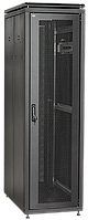"""ITK Шкаф сетевой 19"""" LINEA N 24U 600х600 мм стеклянная передняя дверь, задняя металлическая серый"""