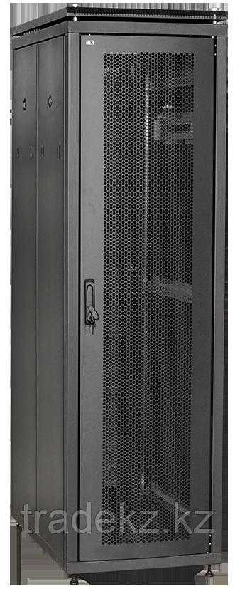 """ITK Шкаф сетевой 19"""" LINEA N 18U 600х800 мм стеклянная передняя дверь, задняя металлическая черный"""