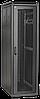 ITK Шкаф LINEA E 47U 600х800мм двери 2 шт стекло и металлическая черный