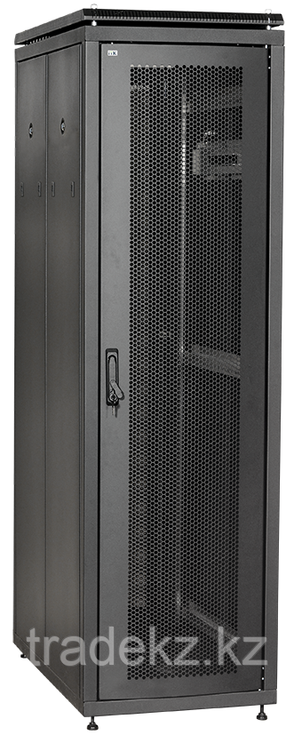 """ITK Шкаф серверный 19"""" 42U, 800х1000 мм пер. двухстворчатая перфорир. дверь, задн. перфорир. черный  (ч. 2 из 3)"""