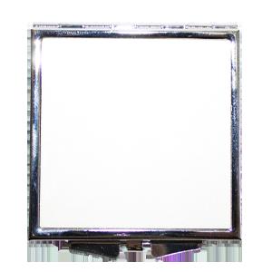 Зеркало металлическое квадратное