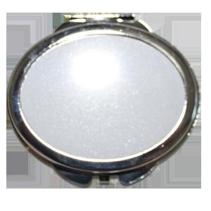 Зеркало металлическое овал