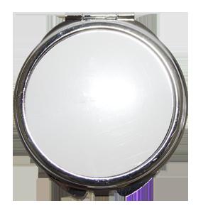 Зеркало металлическое  круг