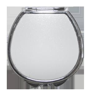 Зеркало металлическое полукруг