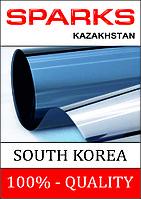 Пленка для тонировки стекол солнцезащитная голубая-зеркальная, пропускание света 15%, R15BL