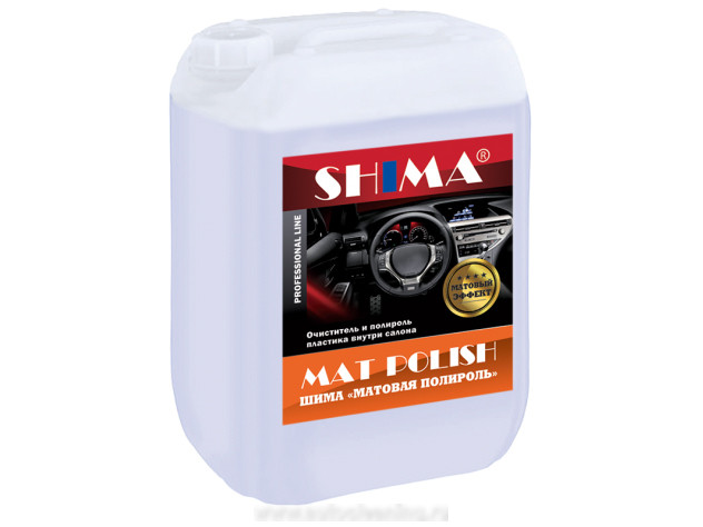 Очистка и уход за пластиком Shima Mat Polish