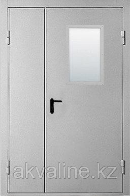 """Дверь противопожарная двупольная """"ДМП EI60"""" с остеклением ширина от 1100 мм."""