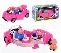 Игровой набор Машина семьи Пеппы автомобиль трансформер Свинка Пеппа (Peppa Pig)