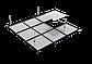Кассетный потолок Албес супер-хром алюминий, фото 2