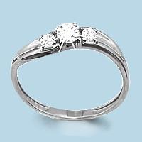 Кольцо из серебра с фианитом сваровски  Aquamarine 62431А