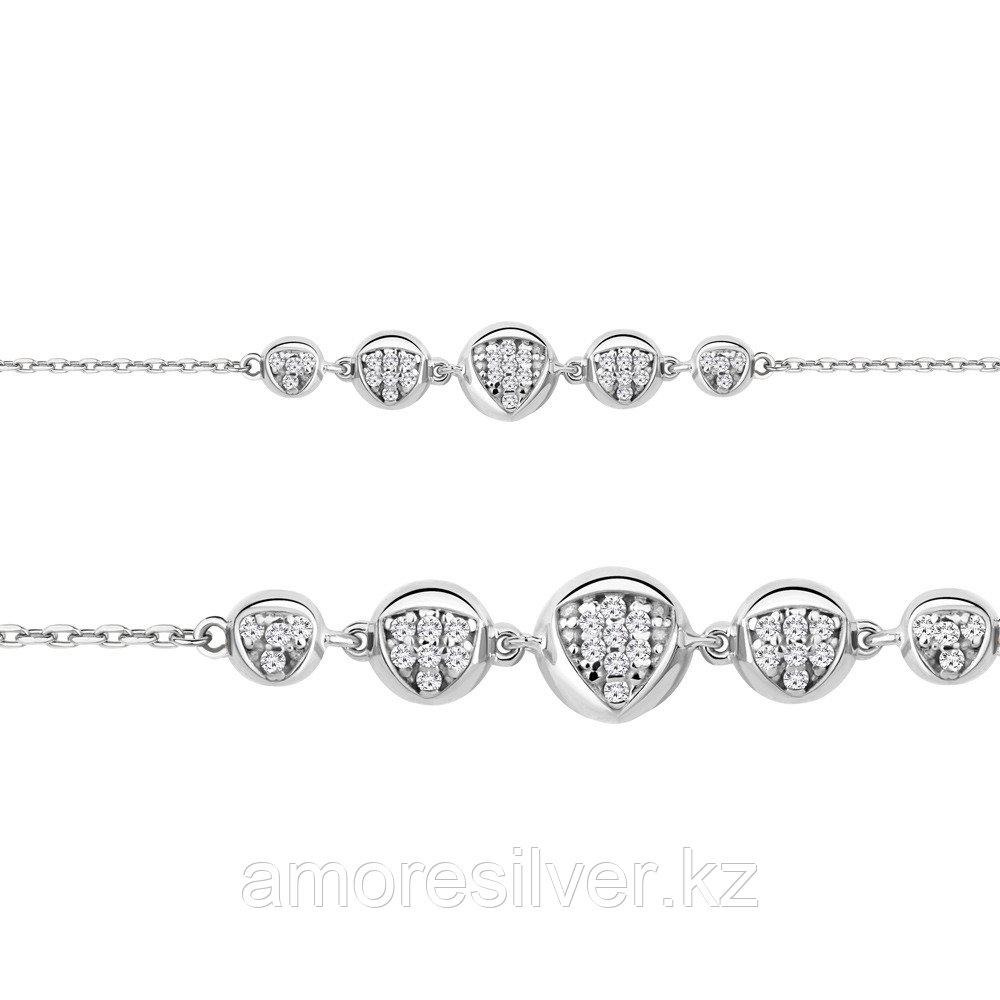 Браслет из серебра с фианитом  Aquamarine 74487А
