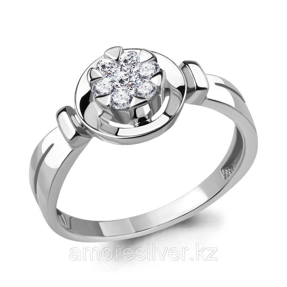 Кольцо из серебра с фианитом  Aquamarine 68508А