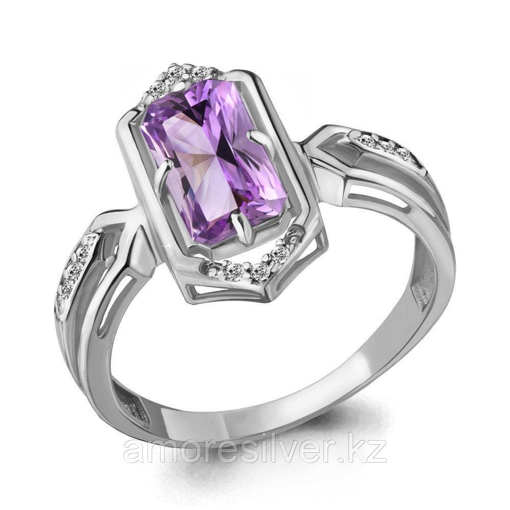 Серебряное кольцо с аметистом и фианитом  Aquamarine 6913904А