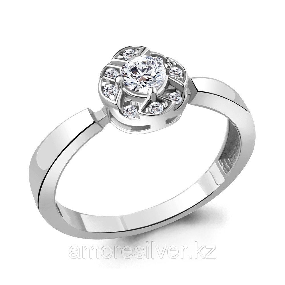 Серебряное кольцо с фианитом  Aquamarine 68540А