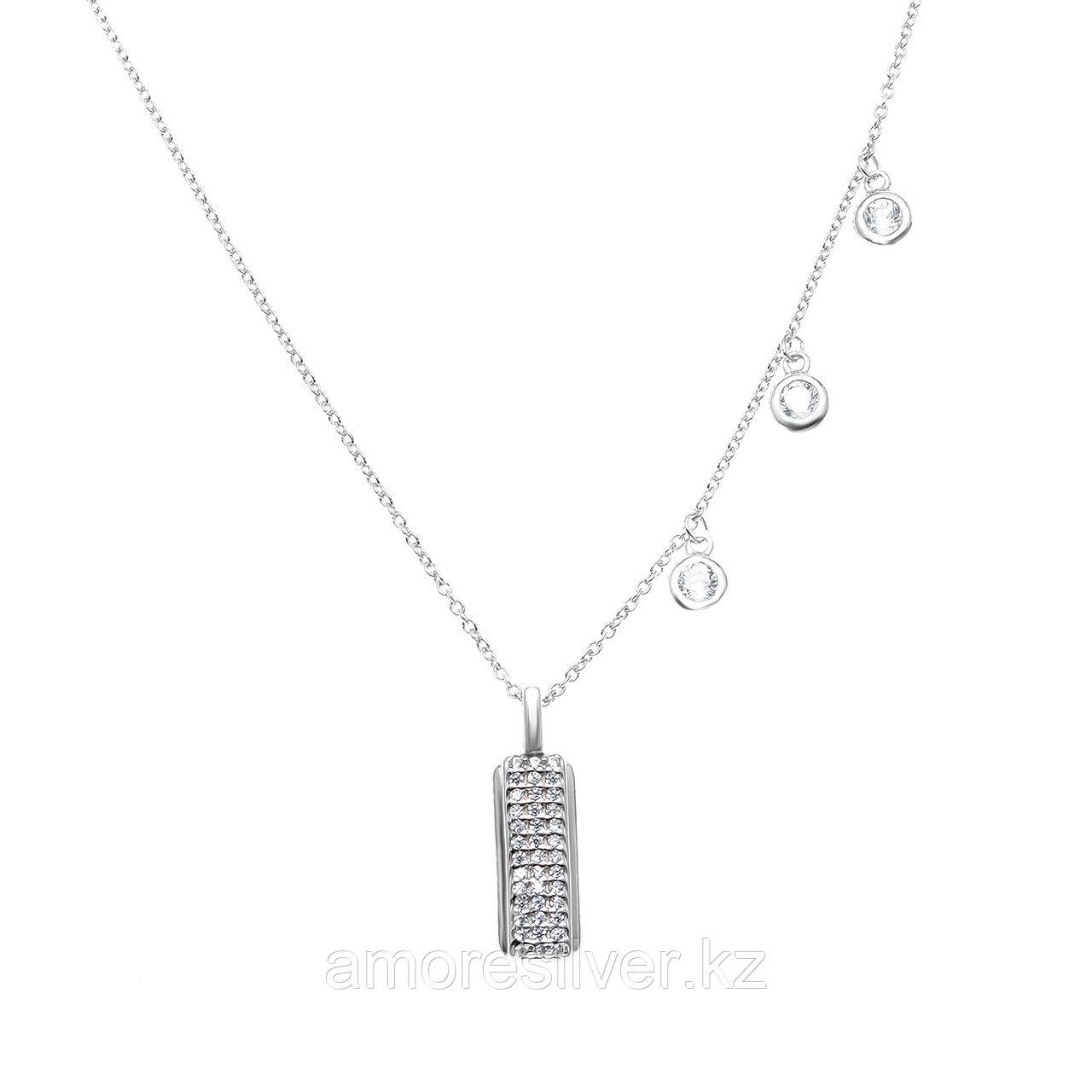 Серебряное колье  Адамант Ср925Р-862303040Ф1