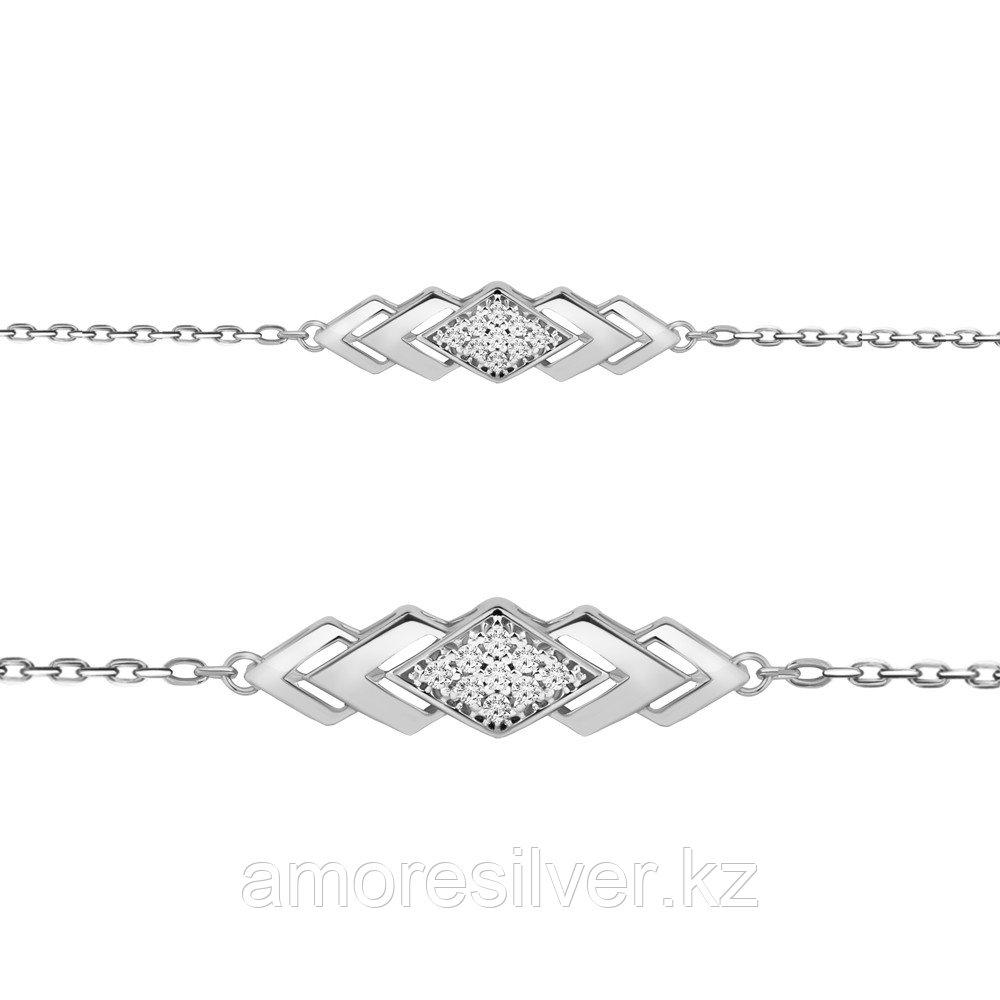 Серебряный браслет с фианитом  Aquamarine 74486А
