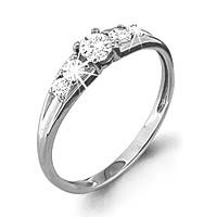 Кольцо из серебра с фианитом сваровски  Aquamarine 62434А