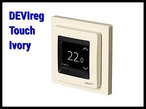 Сенсорный терморегулятор DEVIreg Touch Ivory
