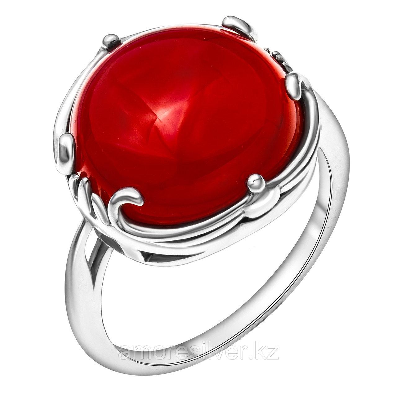 Кольцо из серебра с сердоликом синтетическим и сердоликом  Приволжский Ювелир 251208-CRN