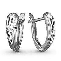 Серебряные серьги  Aquamarine 30104