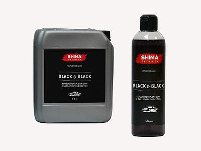 Чернение шин и внешнего пластика SHIMA DETAILER  BLACK & BLACK