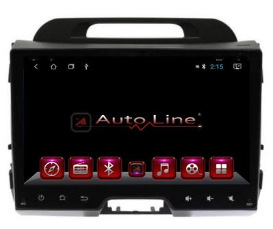 Автомагнитола AutoLine Kia Sportage 2011-2015 HD ЭКРАН 1024-600 ПРОЦЕССОР 8 ЯДЕР (OCTA CORE)