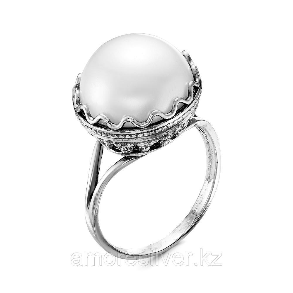 Серебряное кольцо с жемчугом имитированным  Красная Пресня 23310590