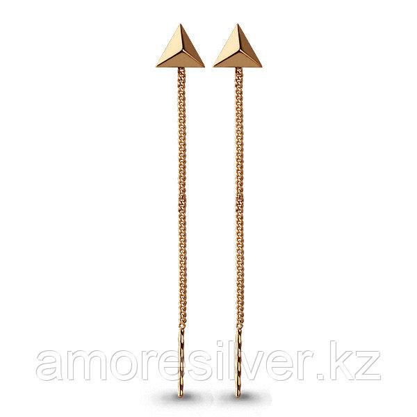 Серебряные серьги  Aquamarine 33142#