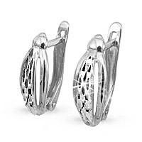 Серьги из серебра  Aquamarine 30233