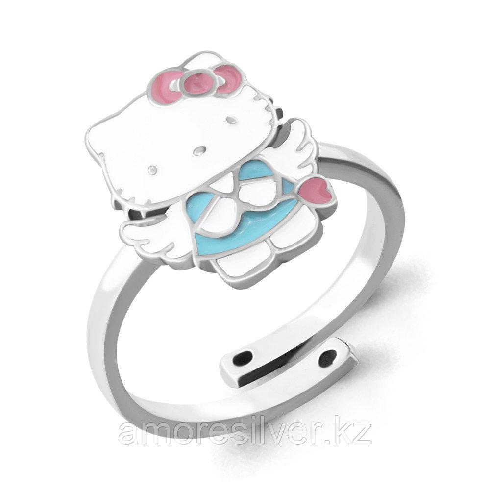 Кольцо Aquamarine серебро с родием, без вставок,  54640