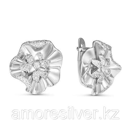 Серьги из серебра с фианитом  Delta с125932