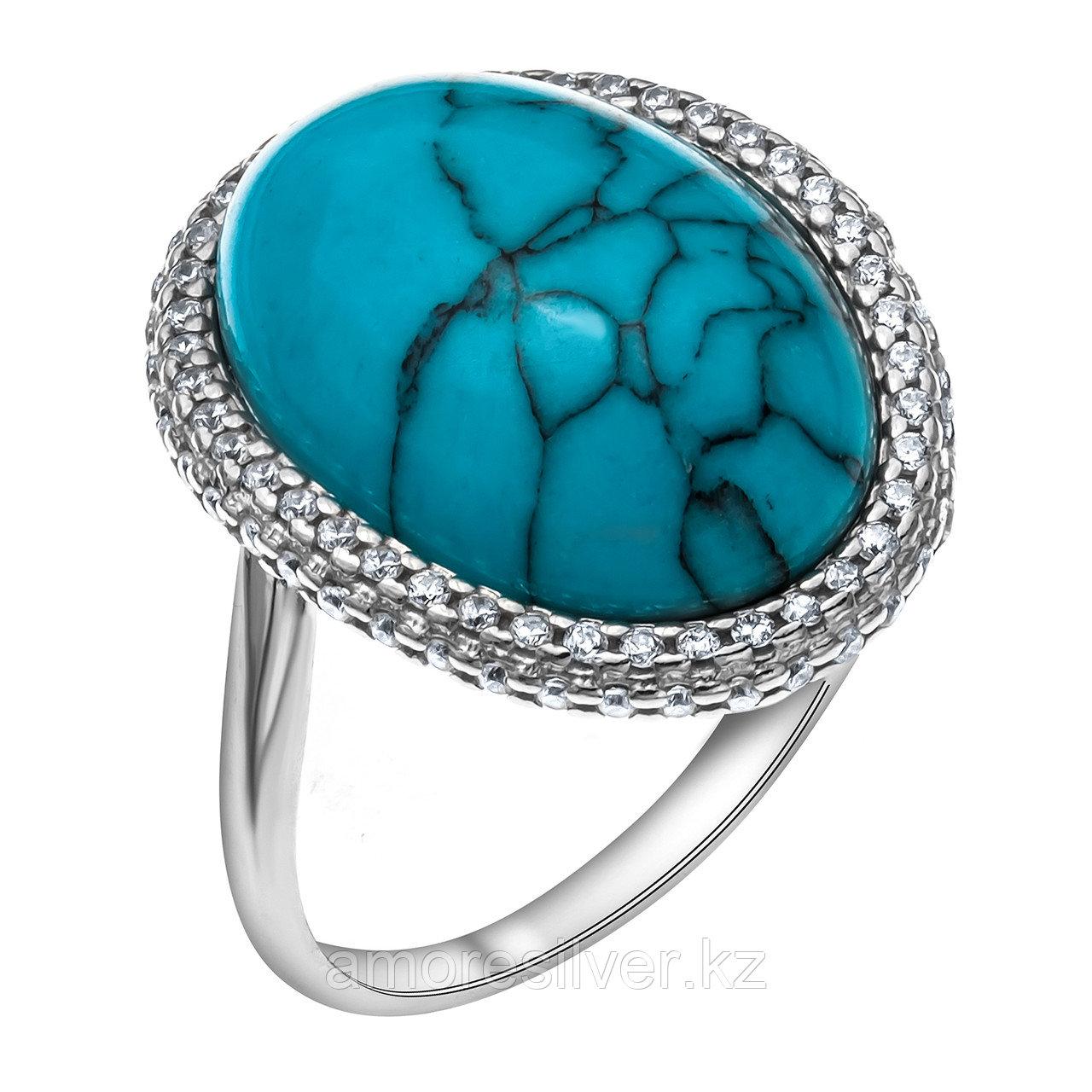 Серебряное кольцо с фианитом  Приволжский Ювелир 251162-TQ