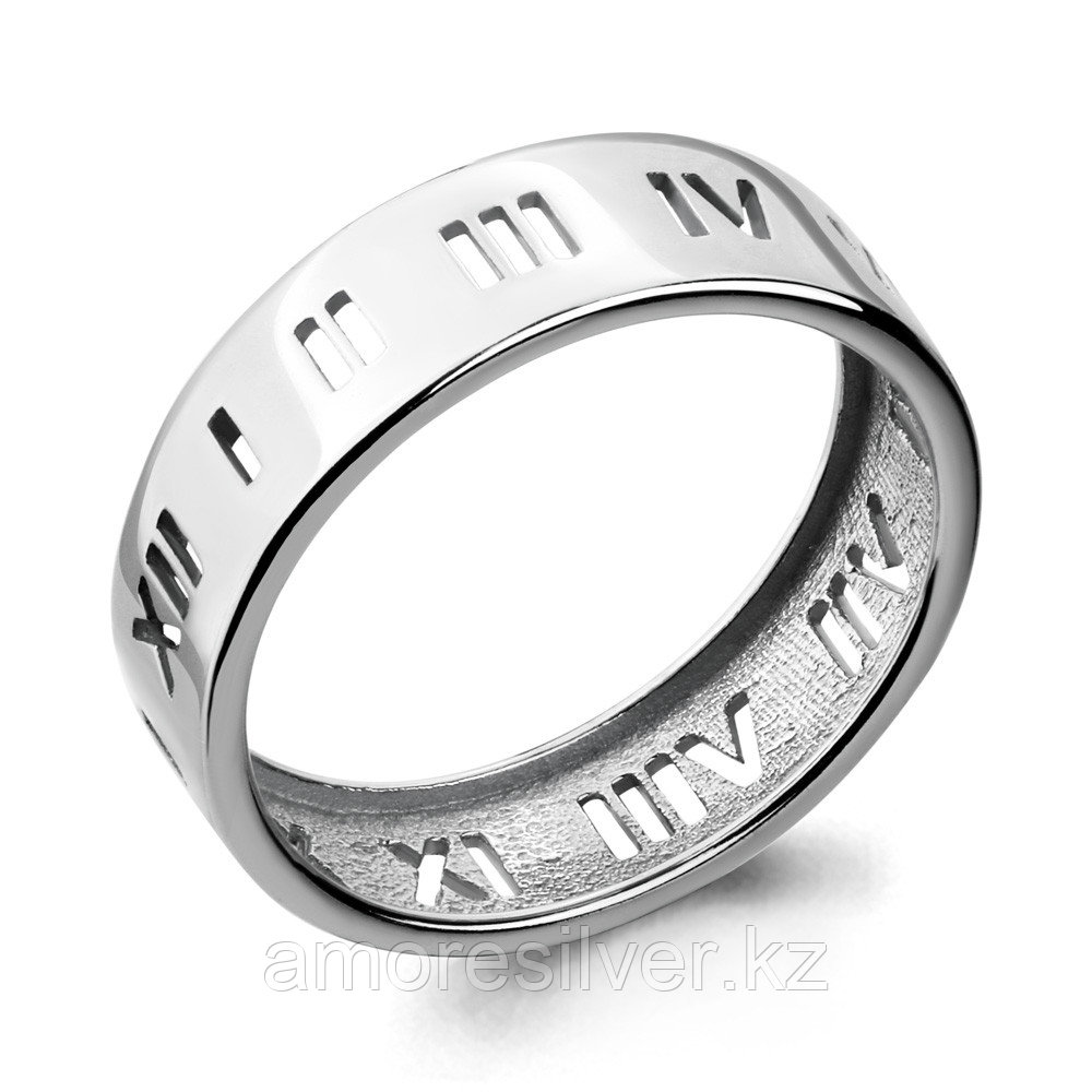 Кольцо Aquamarine серебро с родием, без вставок, символы 54676