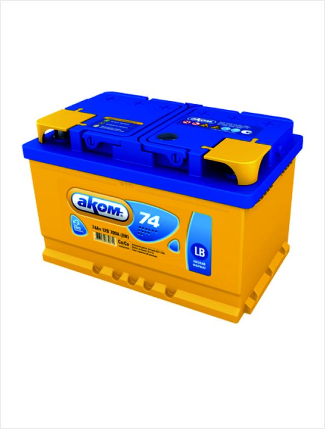 аккумулятор AKOM для легковых автомобилей