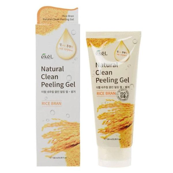 Ekel Rice Bran Natural Clean Peeling Gel Пилинг-Скатка для лица с экстрактом Риса 180мл.