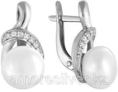 Серьги из серебра с фианитом  Teosa 290-5-668Р