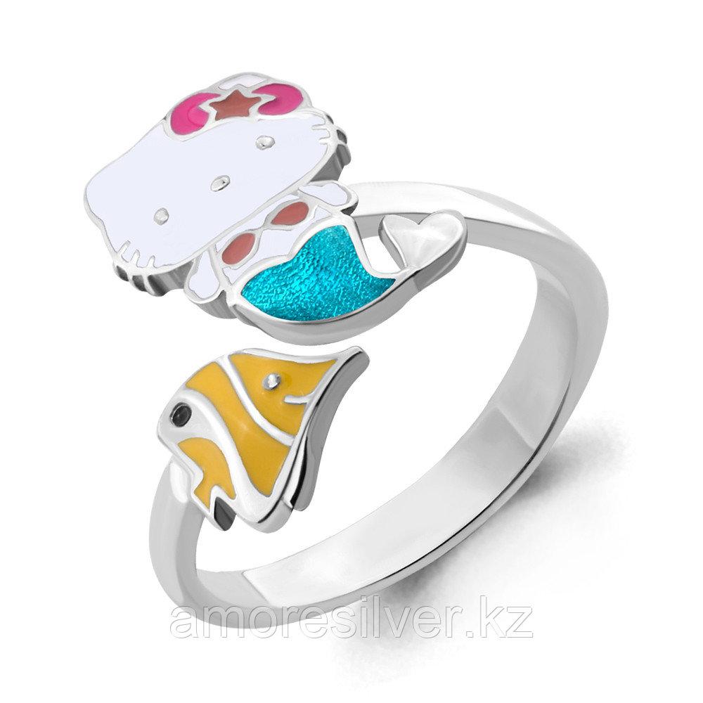 Кольцо Aquamarine серебро с родием, без вставок,  54635