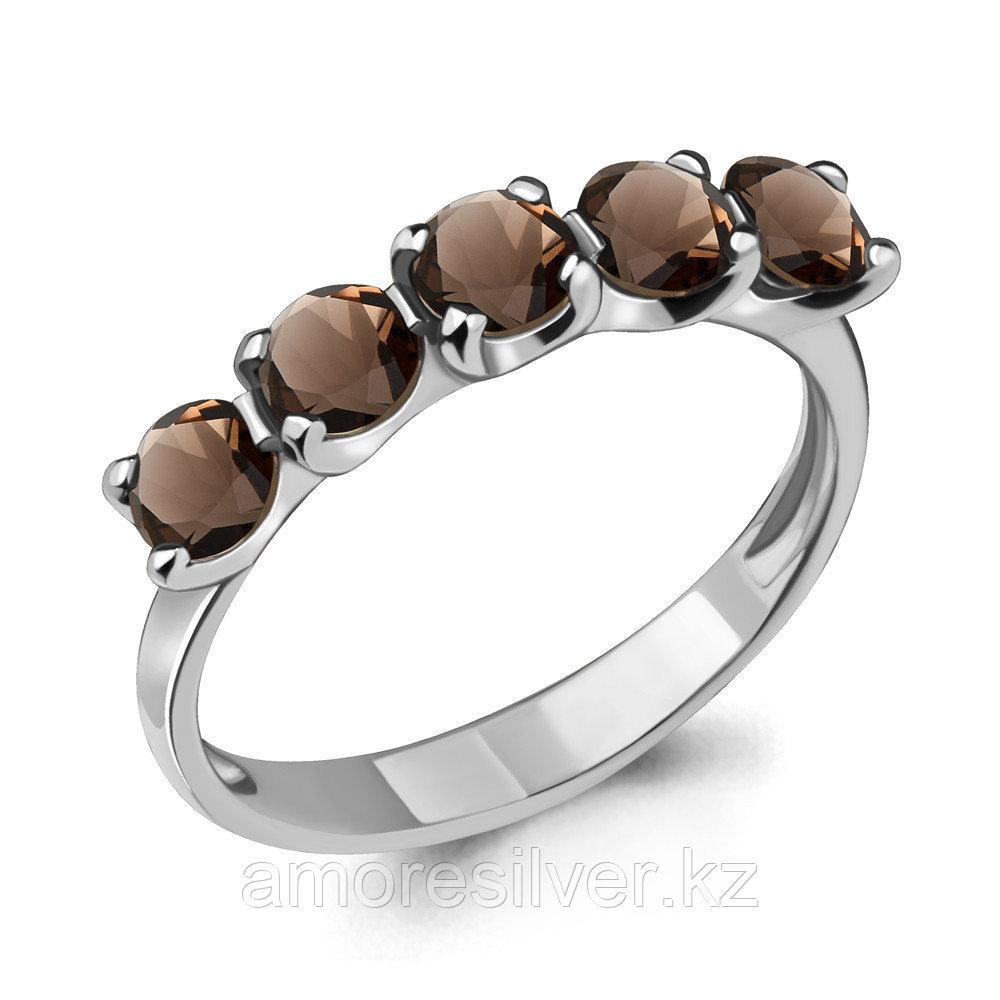 Серебряное кольцо с кварцем дымчатым  Aquamarine 6526001